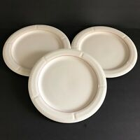 Athena Oneida Dinner Plates White Maroon Border Restaurant Heavy 9712C Set of 3