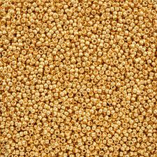 Toho Seed Beads Size 15/0 Metallic 24K Gold Plated 8.2g (Q90/8)