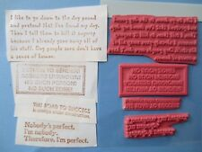 lot 4 funny sayings unmounted rubber stamp