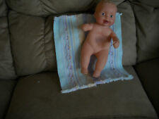 """Baby w/ blonde hair, 12"""" tall, stamped rear end blue heart original rubber body"""