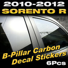 Carbon Black B+C Pillar Post Decal Sticker Molding 6P For KIA 2010-12 Sorento R