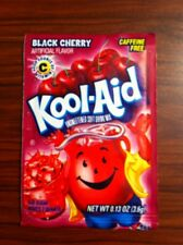 1 Pack of Kool Aid BLACK CHERRY Flavor Drink Mix Packet NEW Gluten Free SHIP