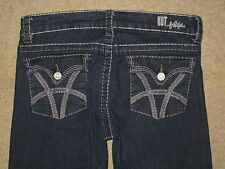 KUT From The Kloth Size 4 Natalie High Rise Bootcut Flap Pocket Stretch Denim