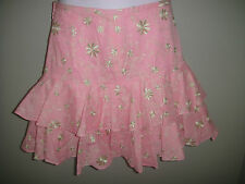 NWT Lilly Pulitzer Bevin Tired Skirt Pink Vinkavine Embroidery Size 0 price $188