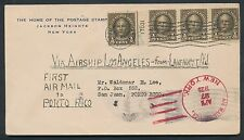1925 AIRSHIP LOS ANGELES ZR-3 US TO PUERTO RICO COVER BP1239
