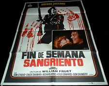 1976 Death Weekend ORIGINAL SPAIN  POSTER William Fruet EXPLOITATION Grindhouse