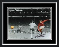 New Geoff Hurst England Signed And Framed Football Photograph C