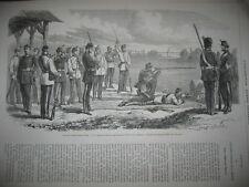 Gravure 1866 - Fêtes de l'indépendance Belge