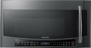 NEW IN BOX - Samsung - 1.7 Cu Ft. Over-the-RangeFingerprint Resistant Microwave