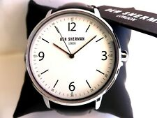 BEN SHERMAN WRISTWATCH watch In GIFT BOX Black Leather Strap