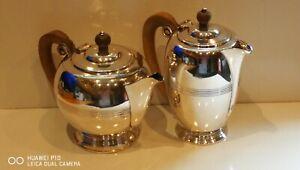 Antique Vintage Art Deco Silver Plated EPBM 2PC Tea Set James Dixon & Sons