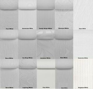 """White Vertical Blind Replacement Slats 89mm (3.5"""") - Plain & Patterned Fabrics"""