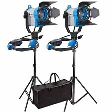 2X150W FRESNEL TUNGSTEN HALOGEN VIDEO CONTINUOUS LIGHTING PRO VIDEO SPOT LIGHT