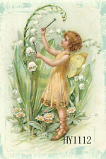 "12.5"" x 18"" Double-sided Mini Garden Flag Easter Angel Pray Flowers Flags Hy1112"