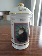 Lenox Cats of Distinction Collection Porcelain Spice Jar 1995 -Clove