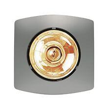 HPM BATHROOM HEATER Single Lamp Instant Heat 275W - MATT SILVER