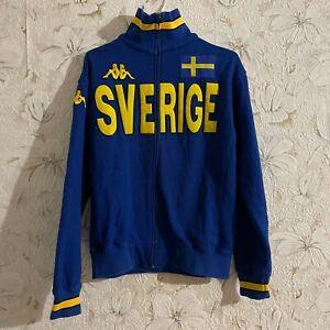 SWERIGE SWEDEN KAPPA TRACK JECKET FOOTBALL  Size M