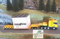Herpa 310864 Scania CS Tieflader Sattelzug Überseekiste Friedsped Liebherr 1:87