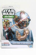 Playskool Star Wars Galactic Heroes Sith Darth Maul w/ Speeder 2 pack New