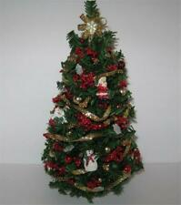 Doll House Shoppe Red Gold Christmas Tree dhs49123 Miniature
