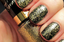 Gold Carat 910 Golden Glittery Loreal Color Riche Nail Top Coat