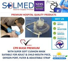 2 X CPR RESUS MASKS PLUS ACCESSORIES TGA AUSTRALIA LISTED RESUSCITATION