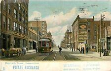 Texas, TX, Commerce Street 1906 UDB Postcard