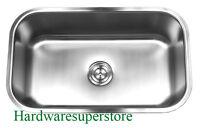 """30"""" x 18"""" x 10"""" Stainless Steel 18 Gauge Undermount Single Bowl Kitchen Sink"""