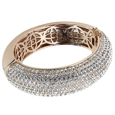 4270 BANGLE SIMULATED DIAMONDS CLEAR  PAVE SET ROSE GOLD ELECTROPLATED