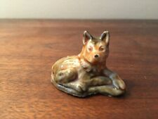 Wade England Porcelain Whimsies Figurine 159-25: Alsatian Dog (Red Rose Tea)