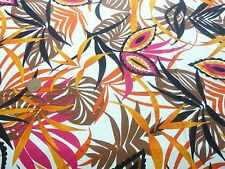 STRETCH JERSEY PRINT-SWIRLY JUNGLE FLORAL -DRESS FABRIC(FREEE P&P UK ONLY)