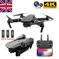Drone X Pro Dual Camera WIFI FPV 2.4G 1080P HD 4K Foldable Selfie RC Quadcopter