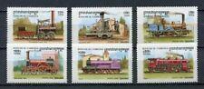 35498) CAMBODIA CAMBODGE MNH** 1997 Trains old locomotives 6v