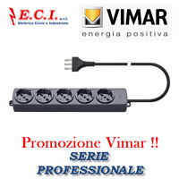 VIMAR 01294.CC MULTIPRESA CIABATTA UNIVERSALE 5 POSTI + CAVO PROFESSIONALE