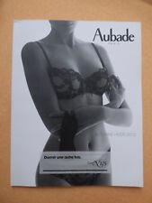catalogue Aubade automne hiver  2010 lecon N° 105 et N° 108