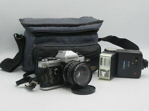 Yashica FX-D Quartz Film Camera With Chinon Flush & Yashica Lens C1016