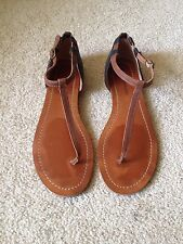 LUCKY BRAND Women's Tong Leather Sandals Size 8.5M