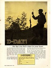 1964 Ben Pearson Bow Hunting D-Day Vintage Print Ad