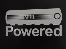 M20 Powered BMW E30 E34 2002 325i 525i eta window sticker vinyl decal #227