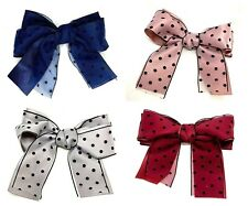 Large Ladies Girls Spotty Hair Bow Clip Ribbon Hair Accessories Hairpin