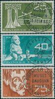 French Polynesia 1965 Sc#C34-C36,SG45-47 Gauguin Museum set FU