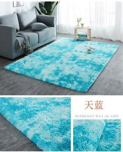 Faux Fur Fluffy Shag Rug Long Pile Washable Non-Skid Furry Carpet in Many Sizes