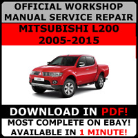 # OFFICIAL WORKSHOP Service Repair MANUAL for MITSUBISHI L200 2005-2015