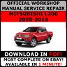 OFFICIAL WORKSHOP Service Repair MANUAL for MITSUBISHI L200 2005-2015