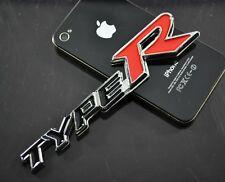 AU TYPE R 3D Metal Chrome Auto Car Truck Badge Emblem Sticker Decal 14cm