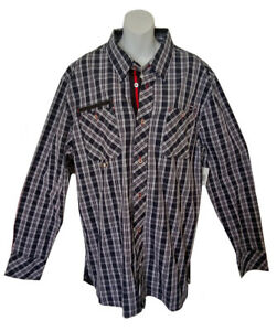 CAVI Long Sleeve Button Down Shirt - Size 2XL - Black & White - New with Tags