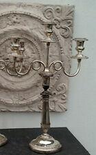 antike englische Kerzenleuchter Silber auf Kupfer Victorian Kandelaber teilbar