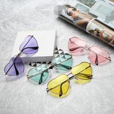 Women Love Heart Shape Lens Sunglasses Eyewear Eye Glasses Shades Festival CU