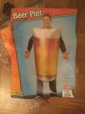 Beer pint costume. Adult 1size. Fun Halloween costume.