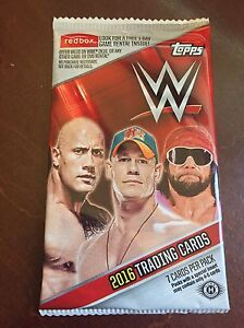 2016 Topps WWE Factory Sealed Hobby Pack - 7 Cards
